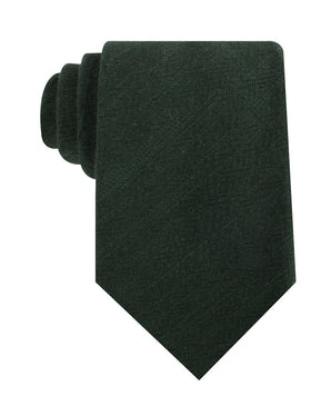 Forest Green Crocodile Linen Necktie