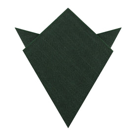 Forest Green Crocodile Linen Pocket Square