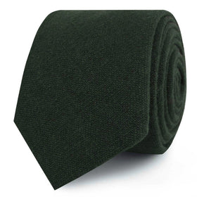 Forest Green Crocodile Linen Skinny Tie