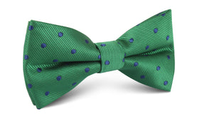 Forest Green Dark Polkadot Bow Tie