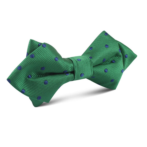 Forest Green Dark Polkadot Diamond Bow Tie