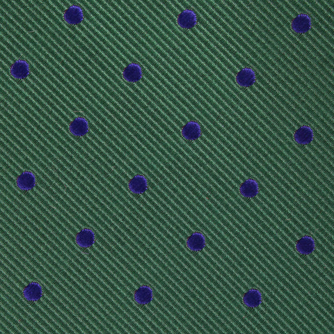 Forest Green Dark Polkadot Pocket Square