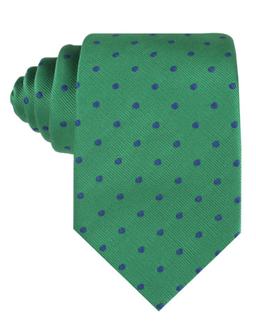 Forest Green Dark Polkadot Tie