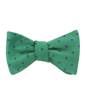 Forest Green Dark Polkadot Self Bow Tie