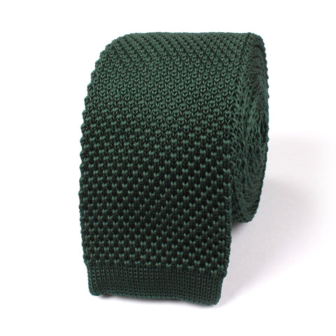 Forest Green Knitted Tie