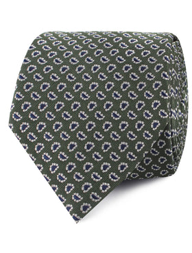 Forest Green Paisley Tie