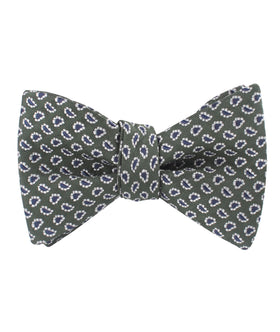 Forest Green Paisley Self Bow Tie