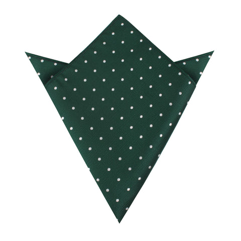 Forest Green Polka Pocket Square