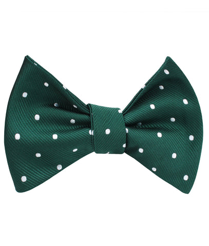 Forest Green Polka Self Bow Tie
