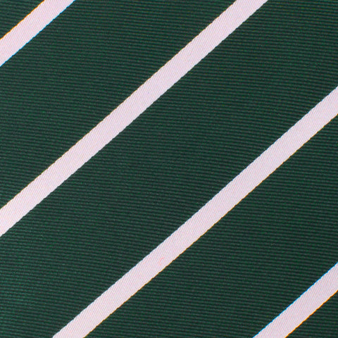 Forest Green Striped Kids Bow Tie