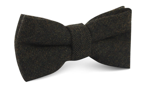 Forest Romney Sharkskin Wool Bow Tie