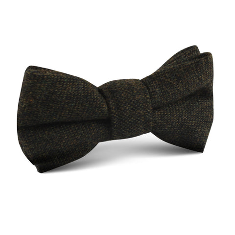 Forest Romney Sharkskin Wool Kids Bow Tie
