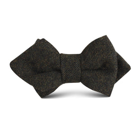 Forest Romney Sharkskin Wool Kids Diamond Bow Tie