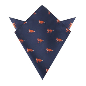 Fox Island Navy Pocket Square