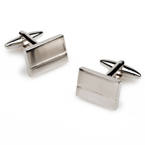 Franklin Roosevelt Silver Rectangle Cufflinks