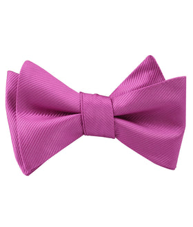 Fuschia Pink Twill Self Bow Tie
