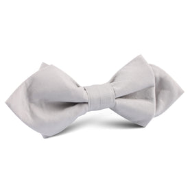 Gainsboro Light Gray Cotton Diamond Bow Tie
