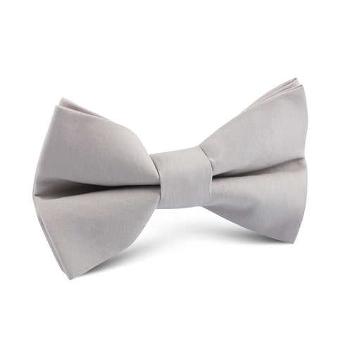 Gainsboro Light Gray Cotton Kids Bow Tie