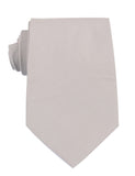 Gainsboro Light Gray Cotton Necktie