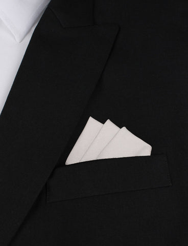 Gainsboro Light Gray Cotton Pocket Square