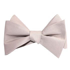 Gainsboro Light Gray Cotton Self Tie Bow Tie