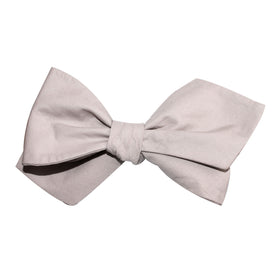 Gainsboro Light Gray Cotton Self Tie Diamond Tip Bow Tie