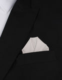 Gainsboro Light Gray Cotton Winged Puff Pocket Square Fold