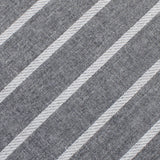 Galileo Pewter Grey Striped Linen Bow Tie Fabric