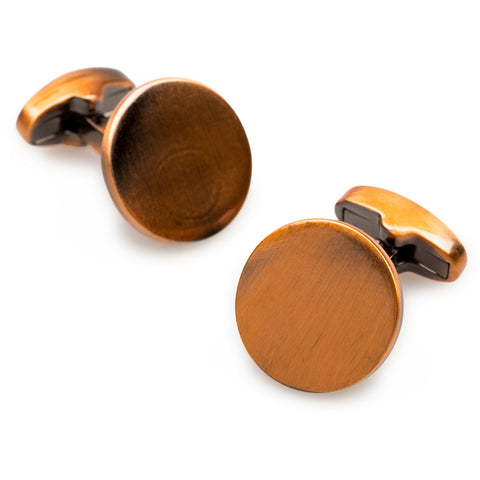 Gangs of New York Antique Copper Circle Cufflinks