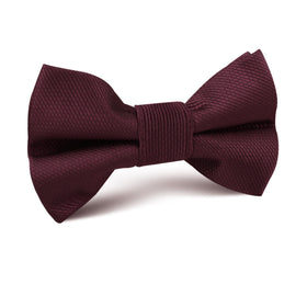 Garnet Wine Burgundy Weave Kids Bow Tie