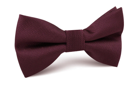 Garnet Wine Burgundy Weave Bow Tie