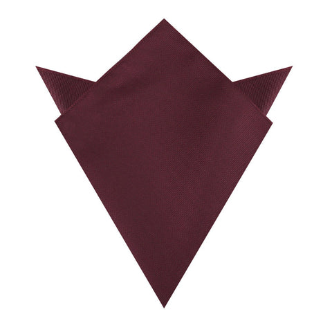 Garnet Wine Burgundy Weave Pocket Square