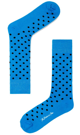 Genie Blue Dot Socks