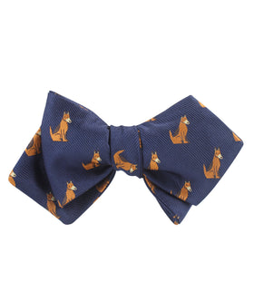 German Shepherd Dog Diamond Self Bow Tie