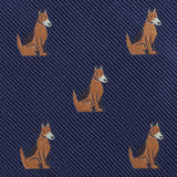 German Shepherd Dog Fabric Self Bowtie