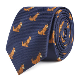 German Shepherd Dog Skinny Tie