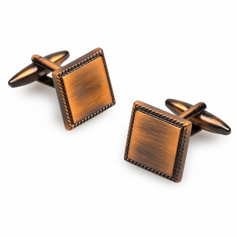 Giotto Antique Copper Cufflinks