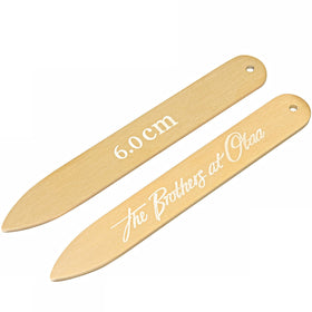 Brushed Gold Collar Stays
