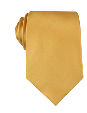 Gold Satin Necktie