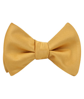 Gold Satin Self Bow Tie