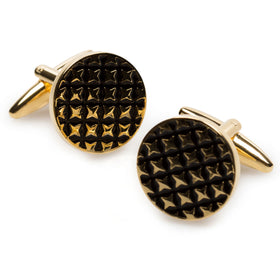 Gold Four Point Star Cufflinks