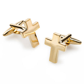 Gold Latin Cross Cufflinks