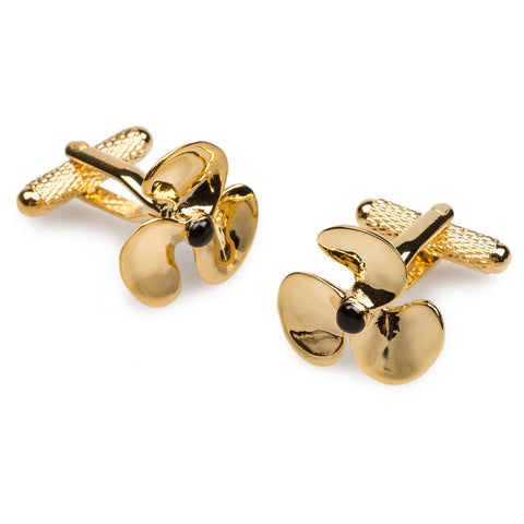 Gold Montego Fan Cufflinks