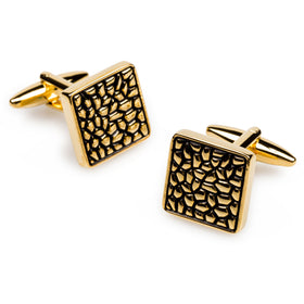 Gold Pebble Cufflinks
