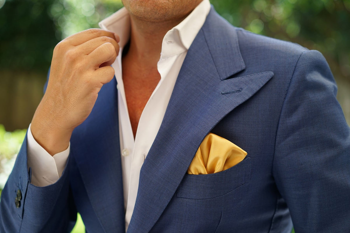Gold Satin Pocket Square