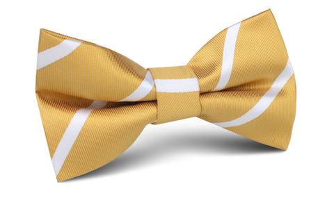 Gold Striped Bow Tie