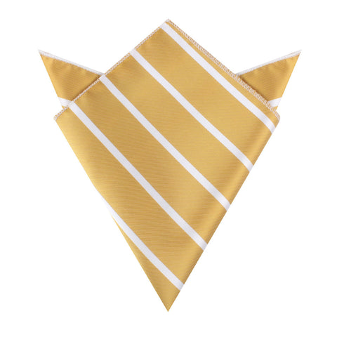 Gold Striped Pocket Square