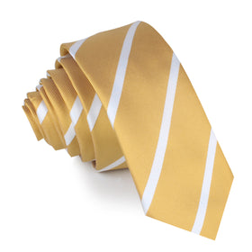 Gold Striped Skinny Tie