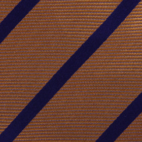 Golden Brown Pencil Stripe Bow Tie