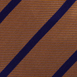 Golden Brown Pencil Stripe Fabric Self Bowtie